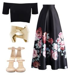 """""""Untitled #564"""" by hannahjoyjacob on Polyvore featuring American Apparel, Chicwish, Giuseppe Zanotti, women's clothing, women, female, woman, misses and juniors"""