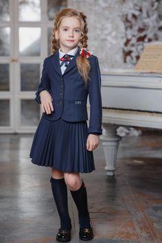 DUWALI SCHOOL 2018 School Uniform Outfits, Cute School Uniforms, Kids Uniforms, Little Girl Models, Cute Little Girls Outfits, Cute Skirt Outfits, Cute Girl Dresses, School Girl Dress, School Dresses