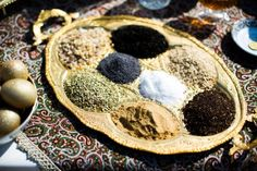 Persian wedding tradition - Sofreh Aghd spices