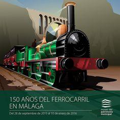 Coincidiendo con el 150 aniversario de la llegada del ferrocarril a Málaga, el Museo del Patrimonio Municipal ha recordado este acontecimiento con una exposición que conduce al visitante a lo largo del recorrido de la línea ferroviaria, desde Córdoba a Málaga, como una metáfora del viaje inaugural que tuvo lugar el 10 de agosto de 1865.