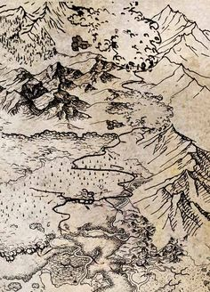 Fantasy Map — flash fall frenzy #aceo $ 0.99 sale. Ends Friday.