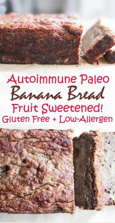 AIP and Paleo Banana Bread - gluten free, grain free, egg free, nut free, and no sugar added! Autoimmune protocol [low allergen and anti-inflammatory recipes from rally pure]