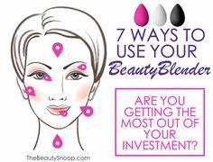 7 ways to use your Beauty Blender sponge #beautyblender #makeup