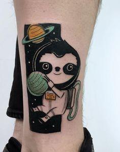 Astro Sloth Tattoo