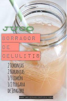 Jugo para eliminar la celulitis - Infografías y Remedios. #remedios #celulitis #jugo #salud #saludable