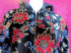 Vintage zip up hoodie Coat by BrooklynBoudoir on Etsy