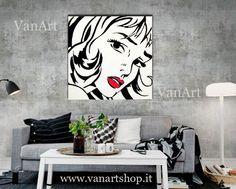 QUADRO  POP ART MODERNO Lichtenstein  DIPINTO  a mano