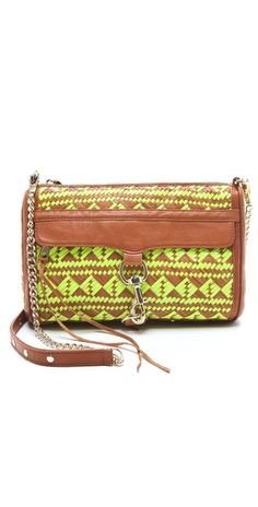 The neon may be too trendy... hm. Rebecca Minkoff Woven Leather MAC Bag