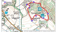 Map route for park walk, Tyntesfield