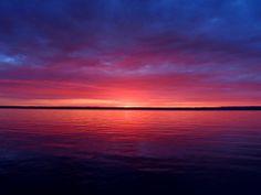 Sunrise over Seneca Lake, by Jack McAllister