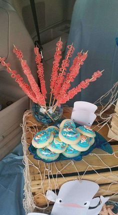 Amazing treats at a Finding Dory birthday party! See more party ideas at CatchMyParty.com!
