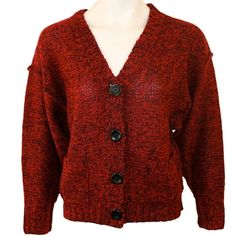 Kensie Girl - Ravishing Red Mix Juniors Cardigan Sweater