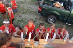 Beer Olympics- Ideas for fun games involving beer & teamwork :-)