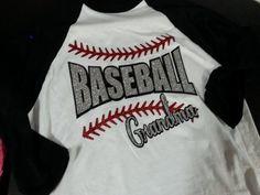 Baseball Grandma Glitter - 3/4 Length T-Shirt on Etsy, $26.00