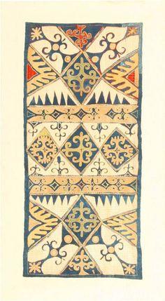 goodmemory: Daguestán Kaitag bordado del panel, ca.  1900. a través de