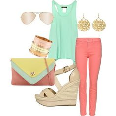 all things im obsessed with at the moment - mint, coral, gold. YUM.