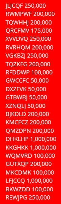 double down casino bingo codes