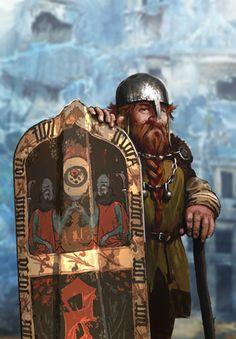 Dwarf warrior: from The Witcher 3