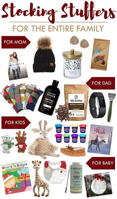 Stocking Stuffers for the Entire Family this Christmas   Gifts for Mom, Dad, Kids, and Baby! Gift ideas for Christmas.