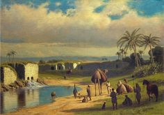 James Fairman - Oriental Oasis - http://www.jeromefinearts.com/portfolio/james-fairman-1826-1904/ Jerome Fine Arts: Google+