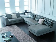 15 Comfortable L Sectional Sofa Design Ideas on Living Room - Home And Apartment. 15 Comfortable L Sectional Sofa Design Ideas on Living Room – Home And Apartment Ideas Large Sectional Sofa, Sectional Furniture, Living Room Sectional, Modern Sectional, Fabric Sectional, Sofa Set, Furniture Decor, Modern Furniture, Furniture Showroom