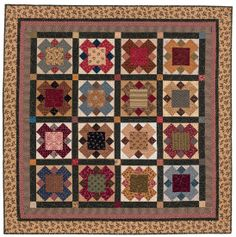 Bountiful Heirlooms: Salt Lake City Block ~ I pinned all three quilts made by Nancy because I loved see the different effects of different fabrics using the same pattern.