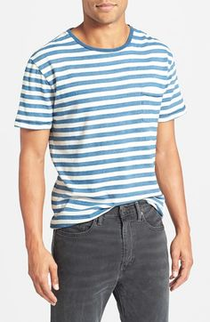 Faherty Stripe Slubbed Cotton Pocket T-Shirt available at #Nordstrom