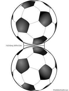 Cartão de convite para a festa de futebol - Kindergeburtstag Einladungskarten selber machen - Soccer Banquet, Soccer Theme, Soccer Ball, Soccer Birthday Parties, Football Birthday, Birthday Cards, Football Soccer, Soccer Treats, Soccer Snacks