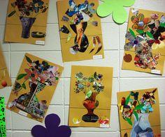 Magazine Collage Floral Still-life  1st & 2nd Grade