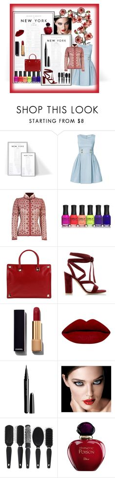 """New York"" by bren-johnson ❤ liked on Polyvore featuring Orla Kiely, Dale of Norway, Valentino, Gianvito Rossi, Chanel, Marc Jacobs, Christian Dior, women's clothing, women's fashion and women"