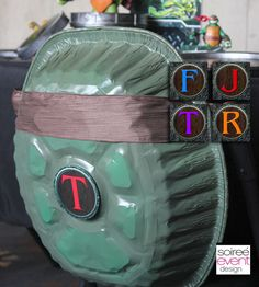 "beyond clever idea for a TMNT party ""Sewer"" Ninja Turtle Shell Medallions via soiree event design"