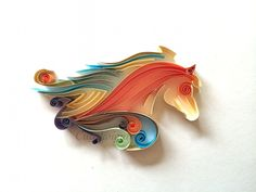 Quilling paper horse colourful Cutedesigntr