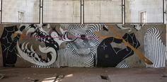 2501 x Basik x Zamoc New Mural In Rimini, Italy Street Art Utopia, Rimini Italy, Best Street Art, Urban Art, Graffiti, Murals, Artwork, Painting, Art Work