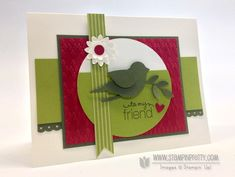 Mojo Monday Bird Silhouette Card - Stampin' Up! Demonstrator - Mary Fish, Stampin' Pretty Blog, Stampin' Up! Card Ideas & Tutorials