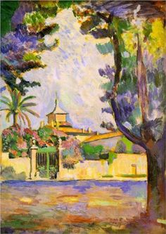 cf.  similarity to Gaugin Road in Tahiti ... Place des Lices, St. Tropez - Henri Matisse