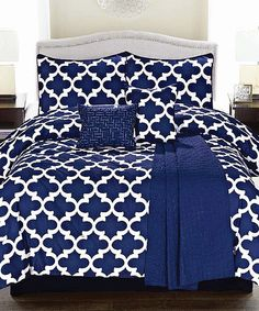 Another great find on #zulily! Navy Geometric Cameron Comforter Set #zulilyfinds