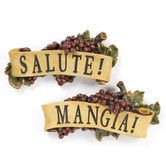 Found it at Wayfair - 2 Piece Salute and Mangia Wall Décor Set