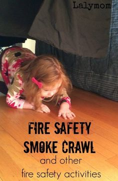 3 Fire Prevention Week Activities on - Set up this easy fire safety activity for kids to get them practicing crawling under pretend smoke- how smart! Fire Safety For Kids, Fire Safety Week, Preschool Fire Safety, Fire Kids, Family Safety, Child Safety, Montessori, Dc Fire, Fire Prevention Week