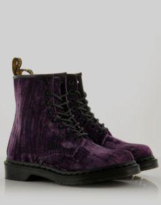 DR. MARTENS Classic 1460 Velvet Boots - BANK Fashion