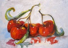 Twigs of Sour Cherries, painting by artist Delilah Smith