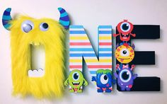 Little Monsters First Birthday Letters by ShopLiamSloane on Etsy