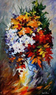 Winter Bouquet — PALETTE KNIFE Oil Painting On Canvas by AfremovArtStudio, $239.00