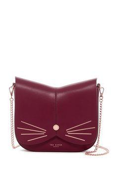 Kittii Cat Animal Leather Crossbody Bag by Ted Baker London on   nordstrom rack Leather Crossbody Bag. Nordstrom Rack 04b2bfb175b8a