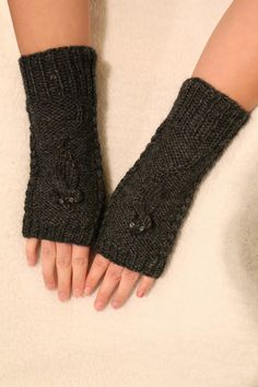 Squeaky mittens made for a friend. You can make your own with this pattern (for free from Ravelry): http://www.ravelry.com/patterns/library/squeaky-mittens