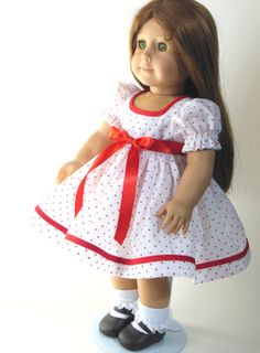 Shirley Temple inspired polka dot dress  for by NancysBigIdeas, $19.00