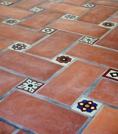 Just love this kitchen flooring. So satisfying. See more at the website; - Just love this kitchen flooring. So satisfying. See more at the website; the modern flooring, rusti - Modern Flooring, Outdoor Flooring, Flooring Ideas Unique, Outdoor Tiles, Kitchen Tiles, Kitchen Flooring, Tile Flooring, Mexican Tile Kitchen, Mexican Tiles