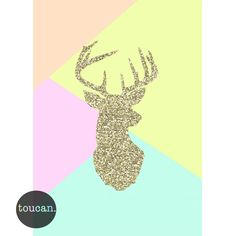 Stag print – Pops of Neon Girl Nursery, Wall Prints, The Help, Card Stock, Pastel, Neon, Frame, Cards, Diys