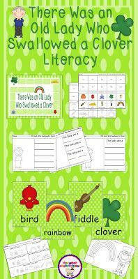 St. Patrick's Day book study, book intetgration unit for kindergarten