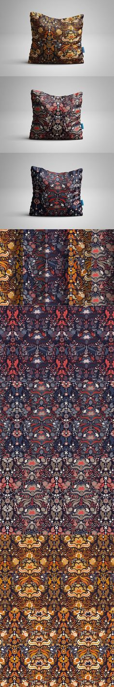 5 Digital Floral Patterns. Vintage Design. $8.00