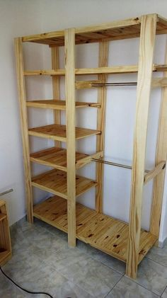 This wood pallet repurposing idea is being stylishly added with the cooperative taste of the closet designing cut piece. This closet creation of wood pallet has been fantastic set with the divisions of the shelves all into it that is much simple designed out for you.